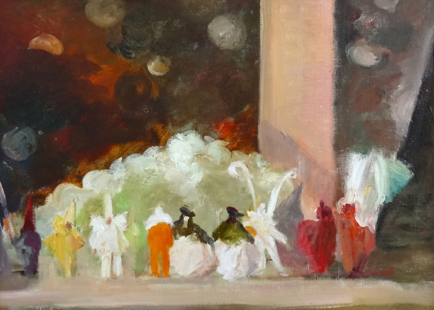 NIGHT AT THE OPERA  oil, 27 x 19 in.