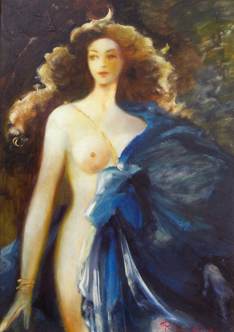 GODDESS  oil, 19 x 27 in.