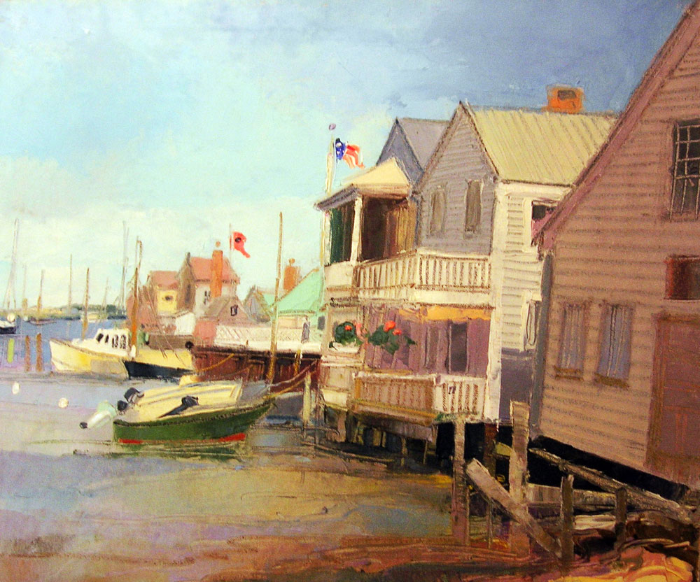 OLD NORTH WHARF  oil, 22 x 18 in.