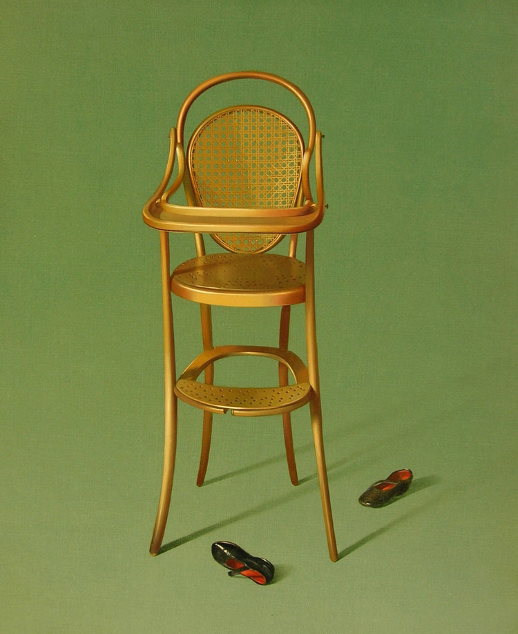 CHAISE D'ENFANT  egg tempera on panel, 18 x 22 in.