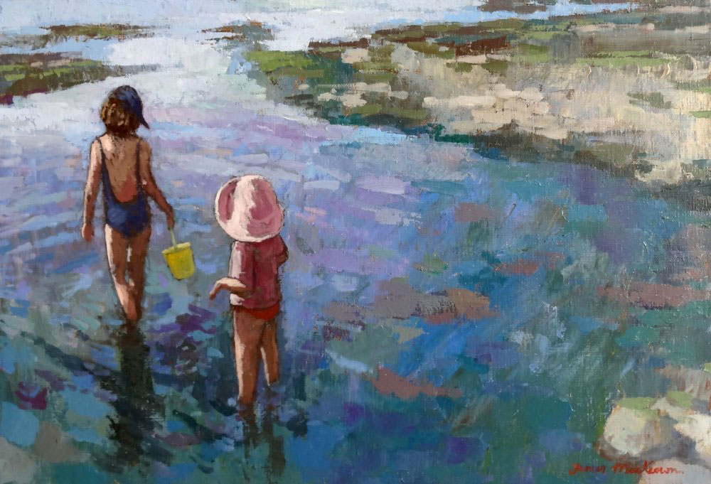 THE PINK HAT  oil, 22 x 15 in.