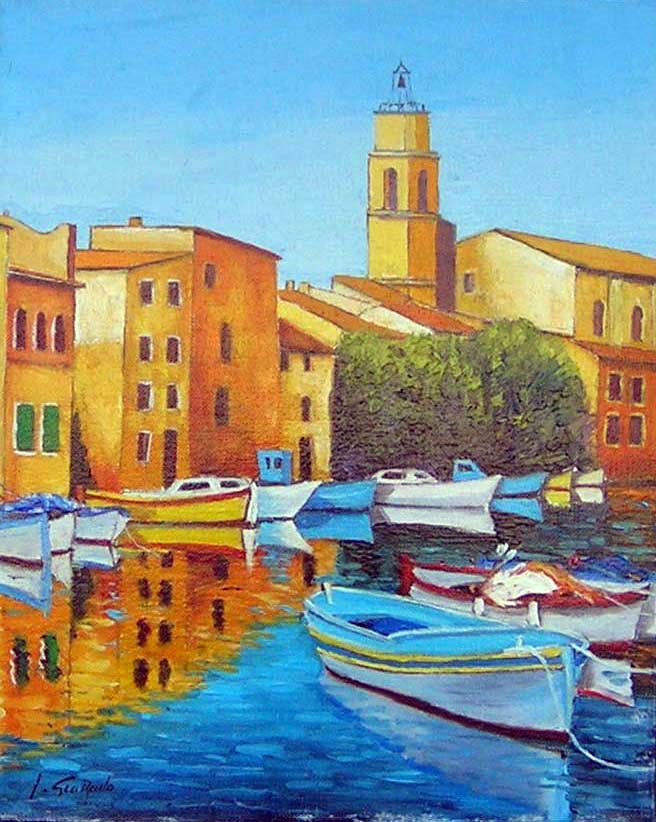 LES MARTIGUES  oil, 17 x 13 in.