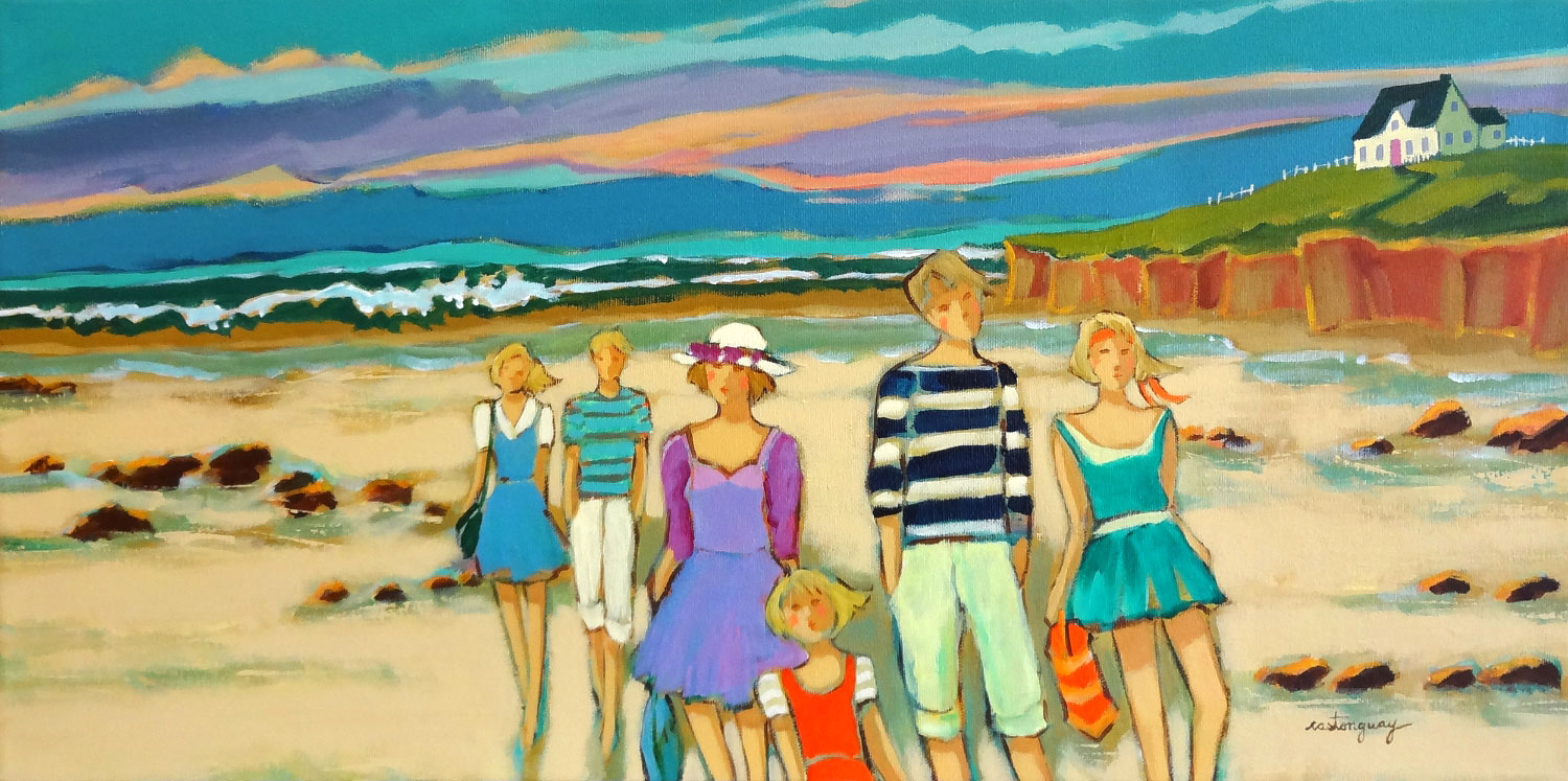 WEEKEND ON THE ISLAND  acrylic, 24 x 12 in.