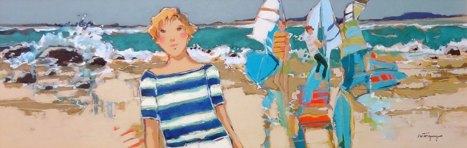 WEEK-END ENTRE AMIS  acrylic, 36 x 12 in.