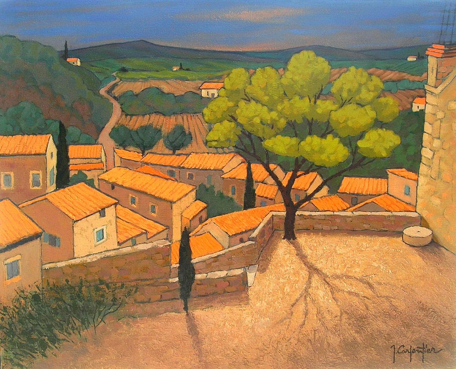 GIGONDAS (VANCHUSE)  oil, 32 x 26 in.