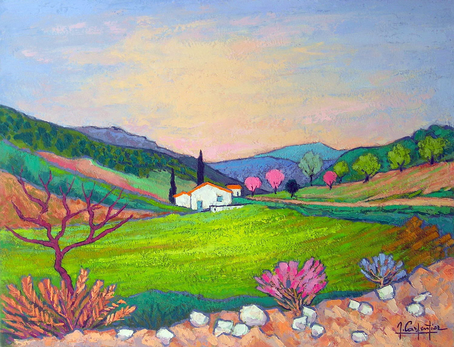 CHATEAU NEUF DE BORDETTE (DROME)  oil, 26 x 20 in.