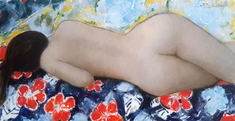 DAISY  oil on canvas, 32 x 16 in.