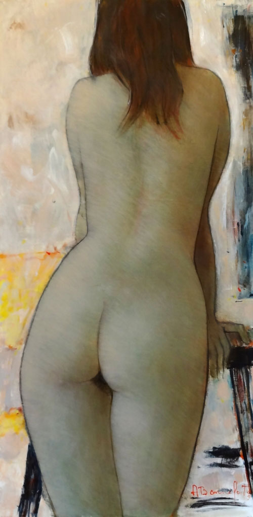 VICKY  oil on canvas, 16 x 32 in.
