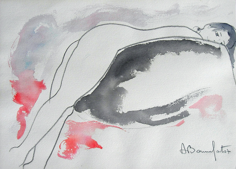 NINA  watercolor, 20 x 14 in.