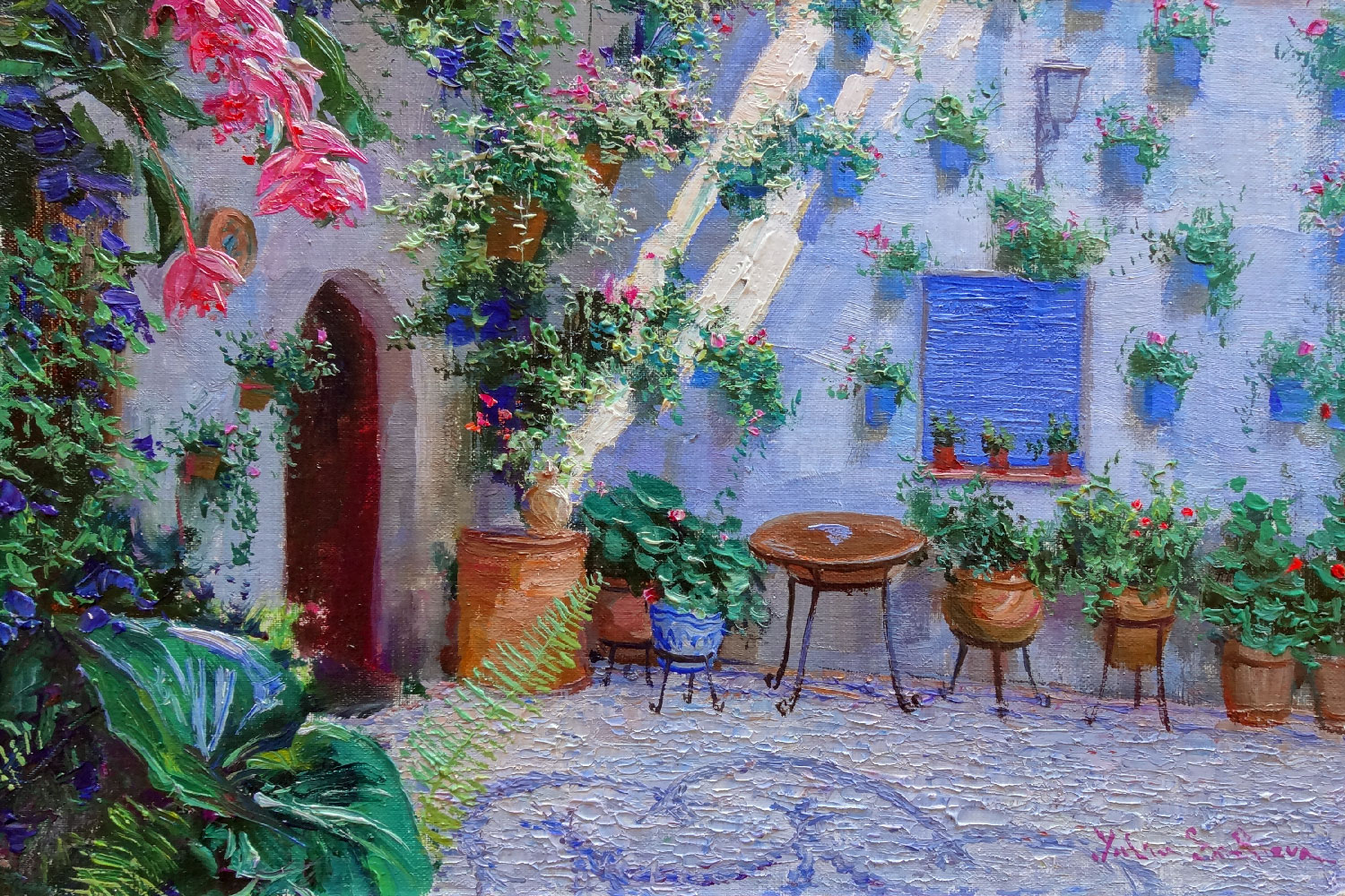 EL PATIO  oil, 8 x 12 in.