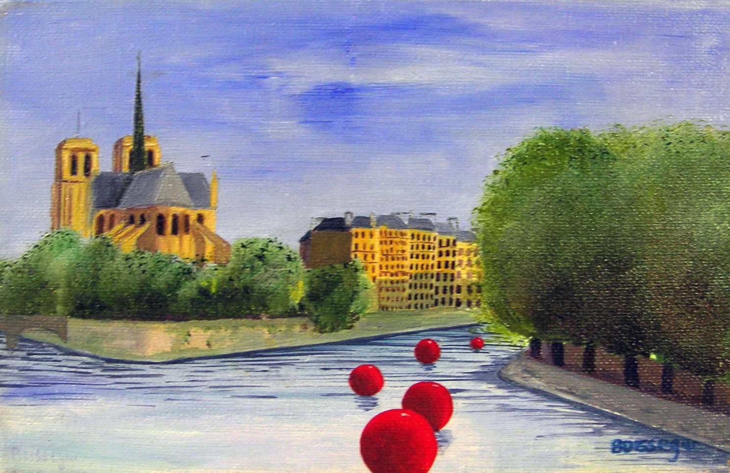 NOTRE DAME DE PARIS  oil, 9 x 7 in.