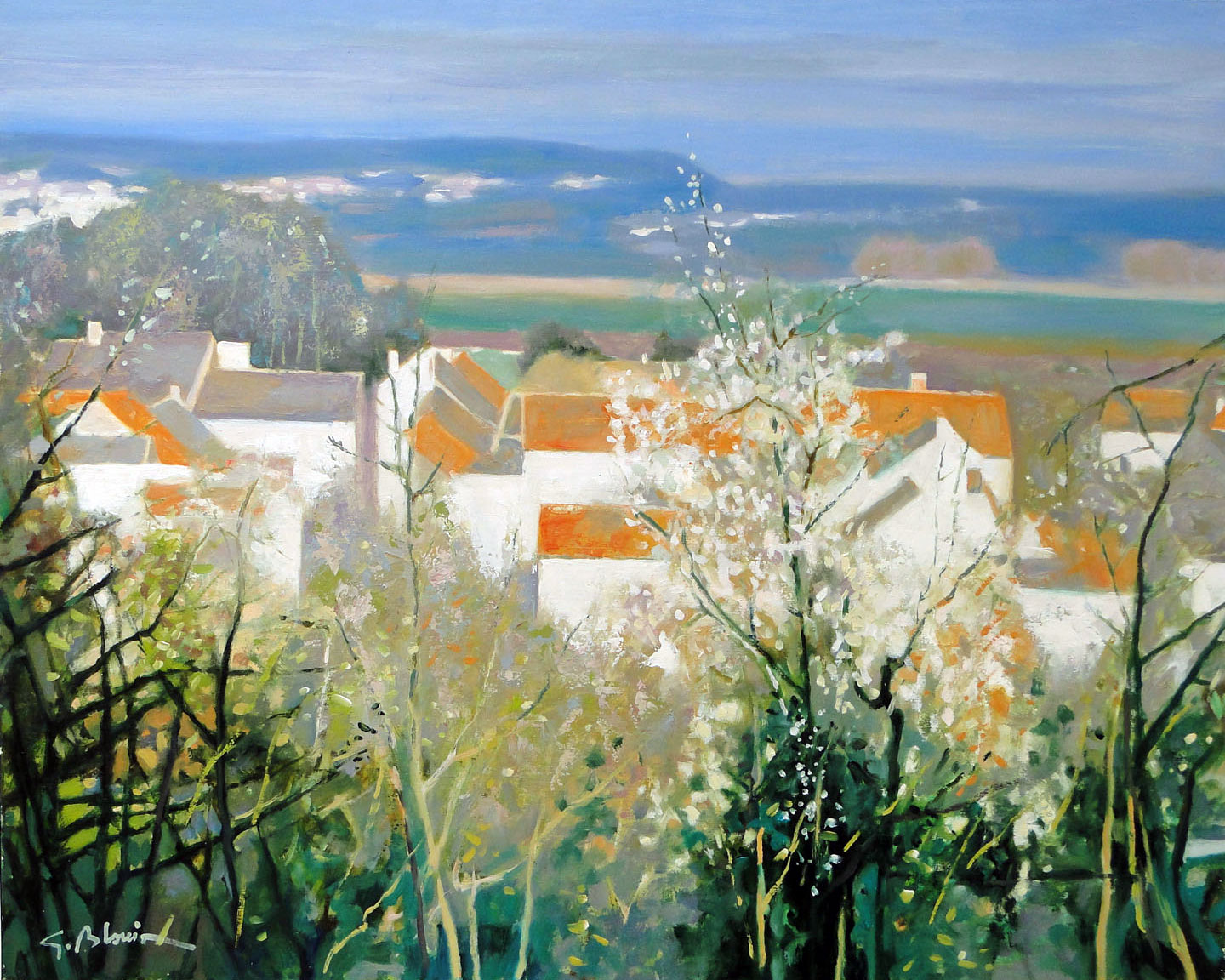 CITRY SUR MARNE (VILLAGE DE RANCE)  oil, 32 x 26 in.