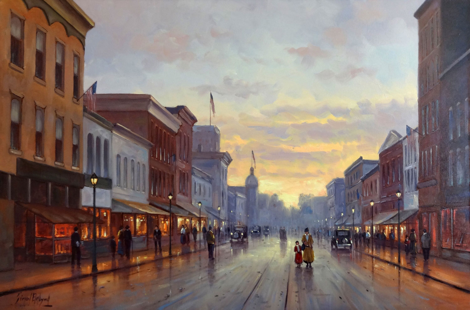 OLD RED BANK  oil on canvas, 36 x 24 in.