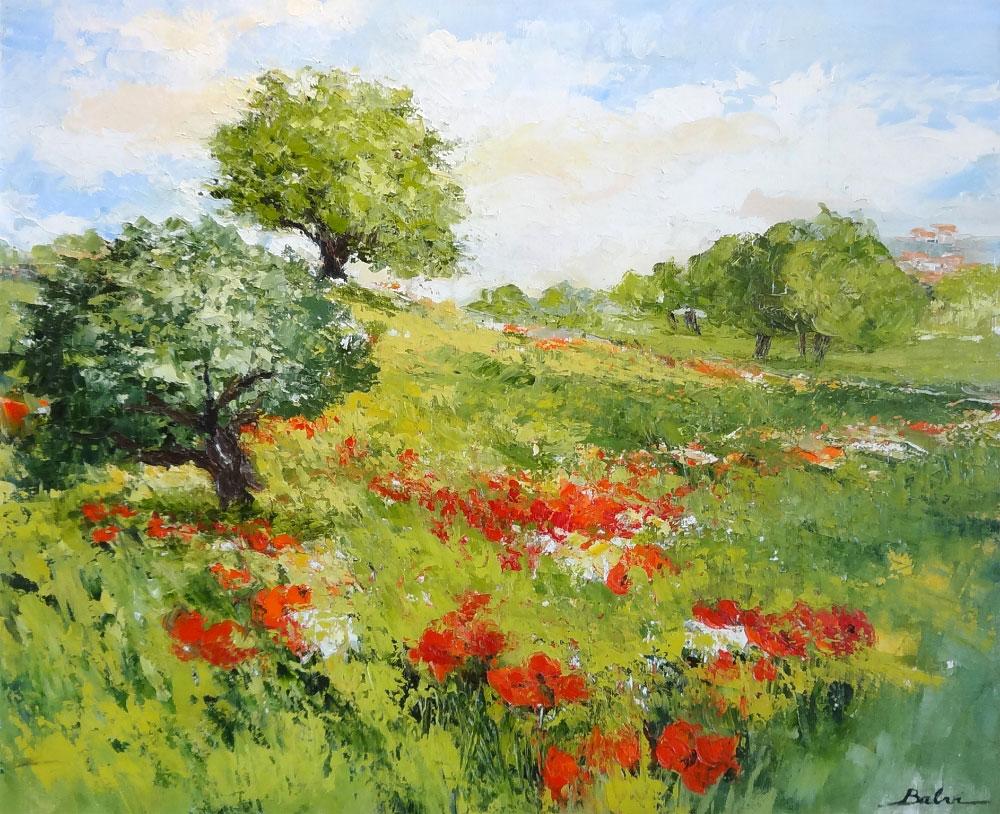L'ETE EN NORMANDIE  oil on canvas, 29 x 24 in.