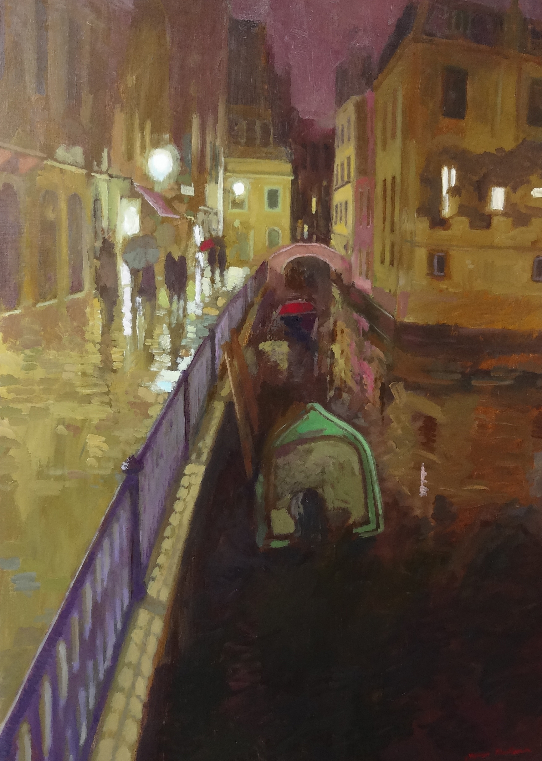 THE CANEL  oil, 29 x 39 in.