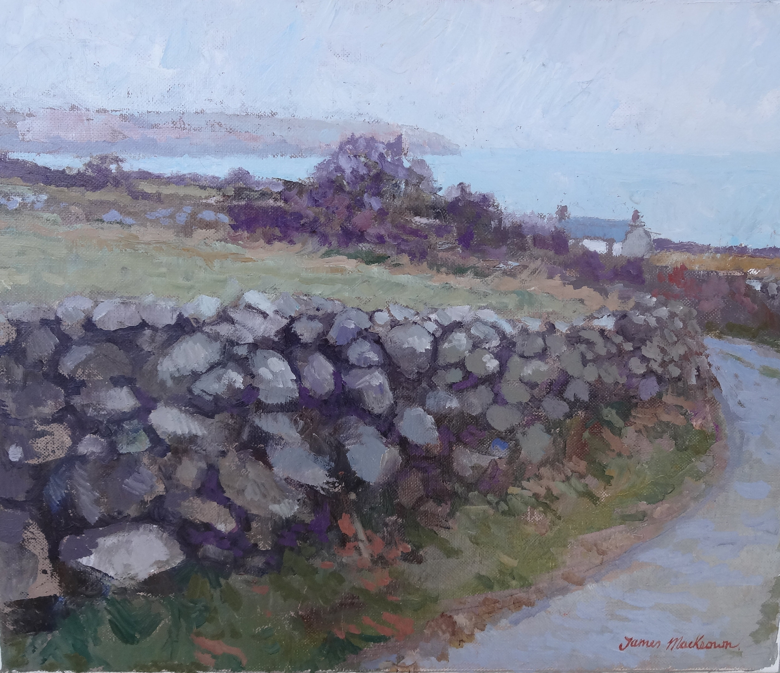 THE STONE WALL  oil, 14 x 17 in.
