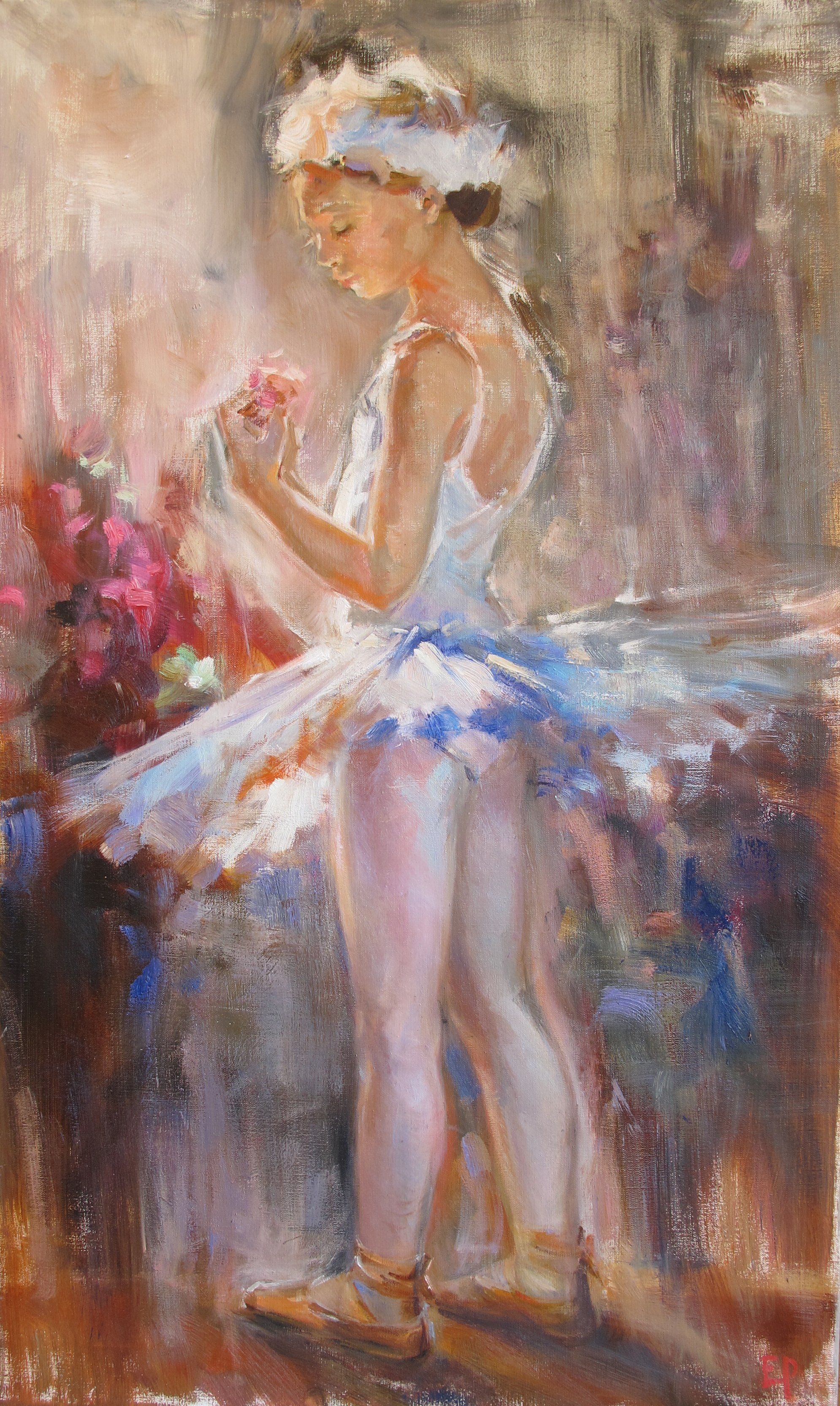 THE YOUNG BALLERINA  oil,  40 x 27.5 in.