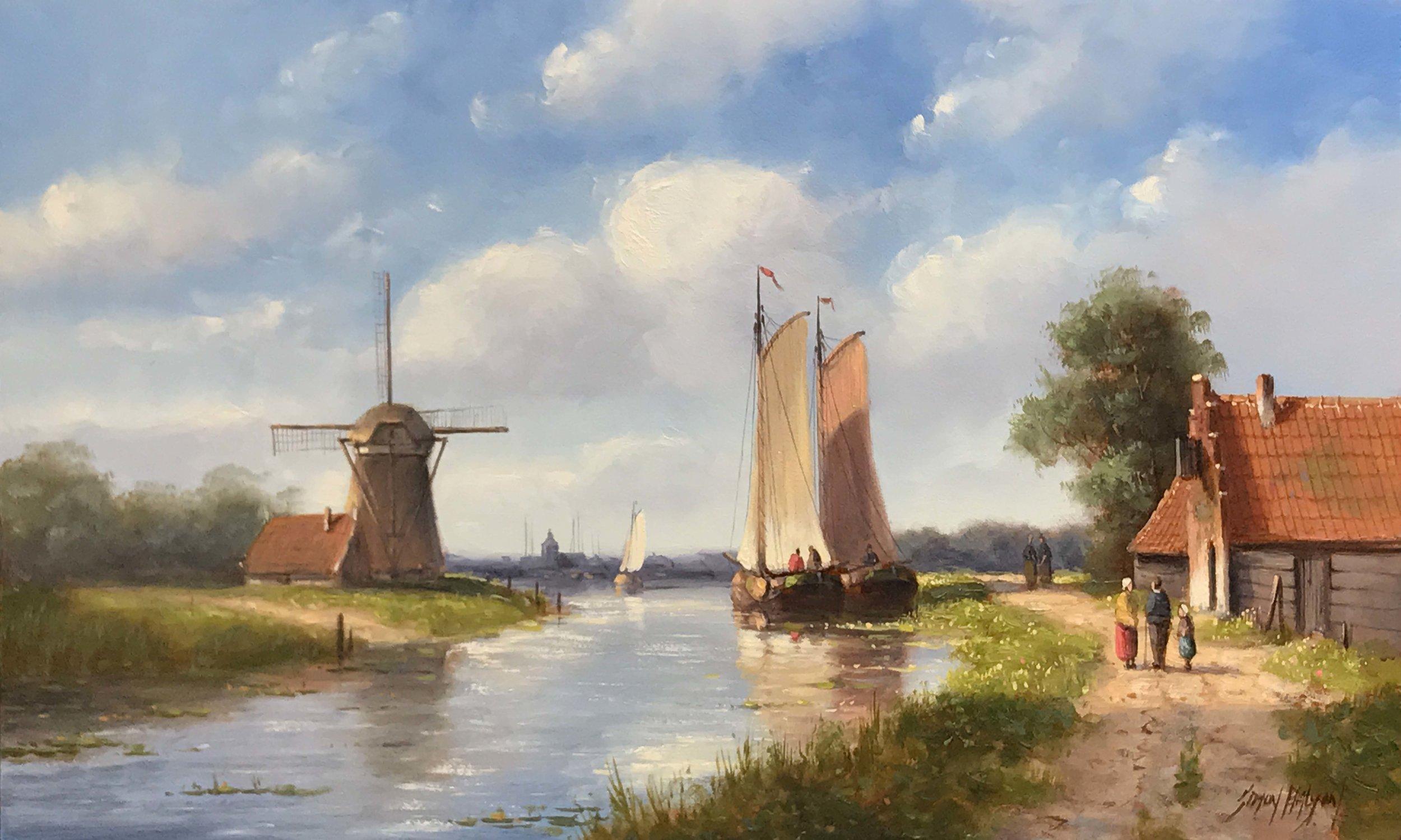 Dutch Summer  oil on panel, 12 x 20 in.