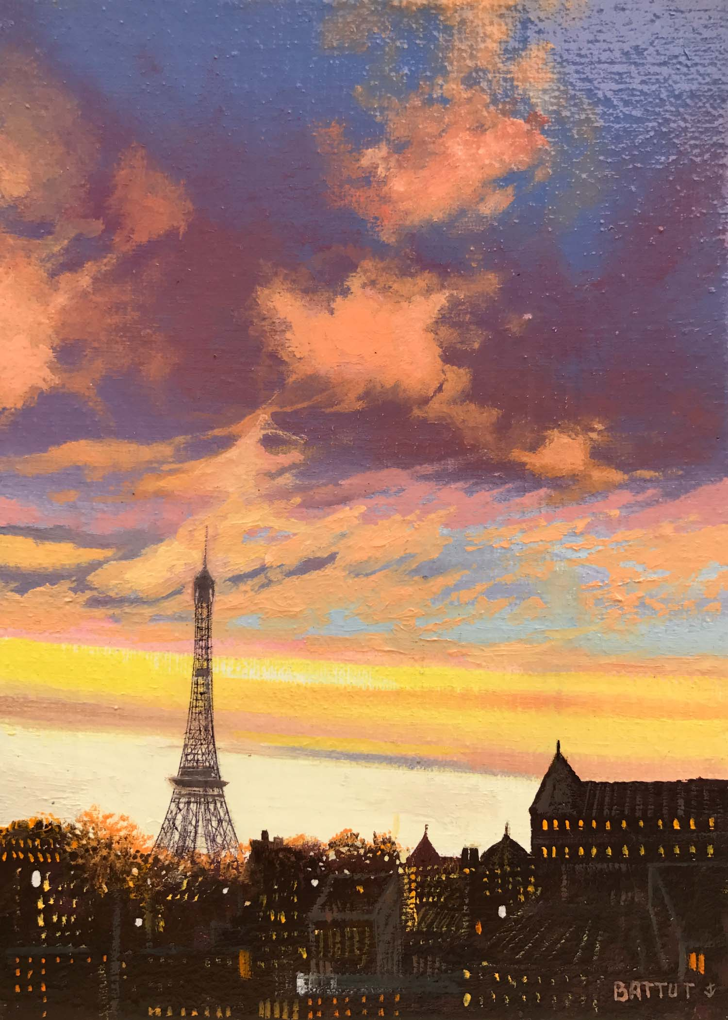 Battut #221-Paris tour Eiffel- 5 x 7-unframed.jpg