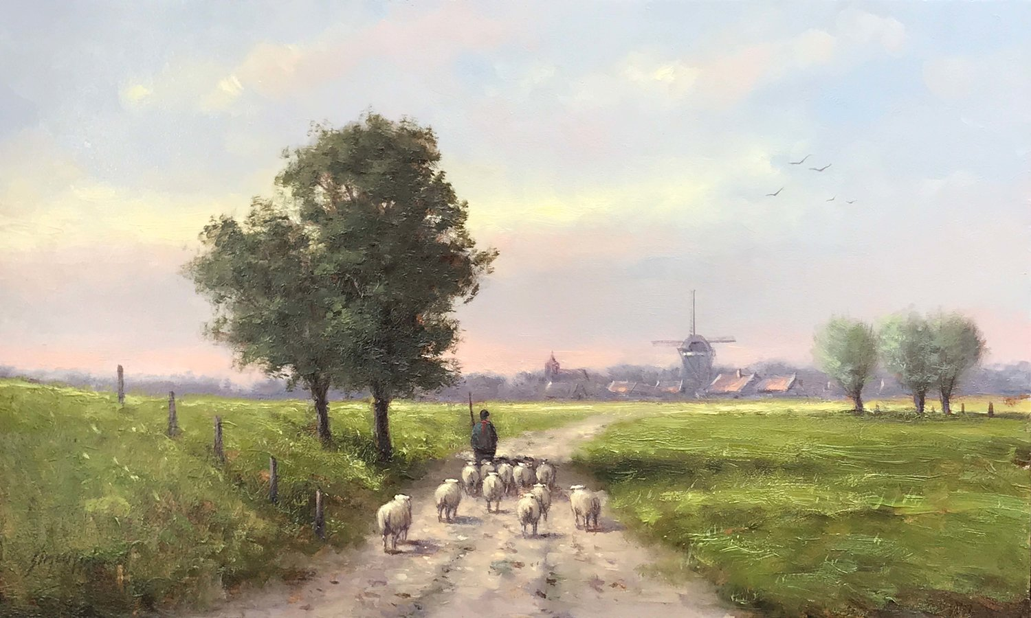 To The Meadow  oil , 12 x 20 in.