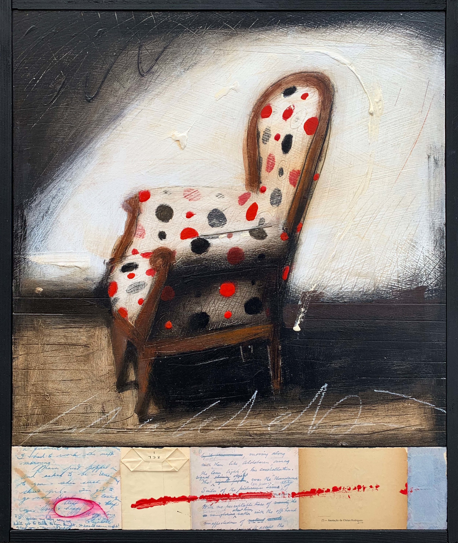 La tua Lettera  oil on panel , 21.5 x 25.5 in.