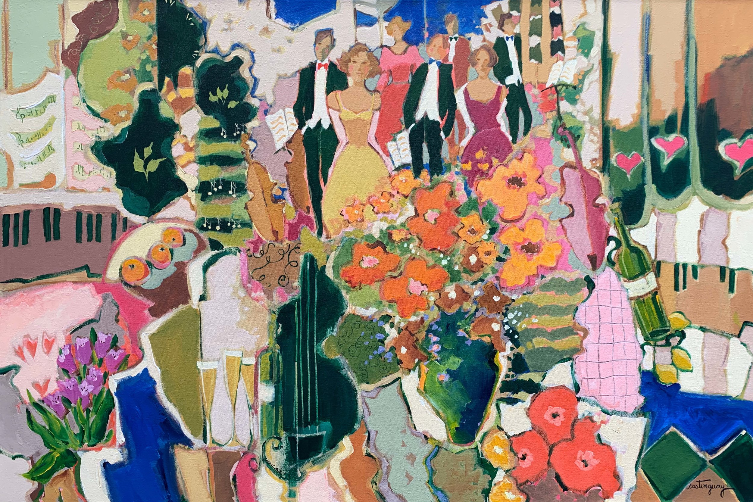 L' Heure Exquise  acrylic on canvas, 36 x 24 in.