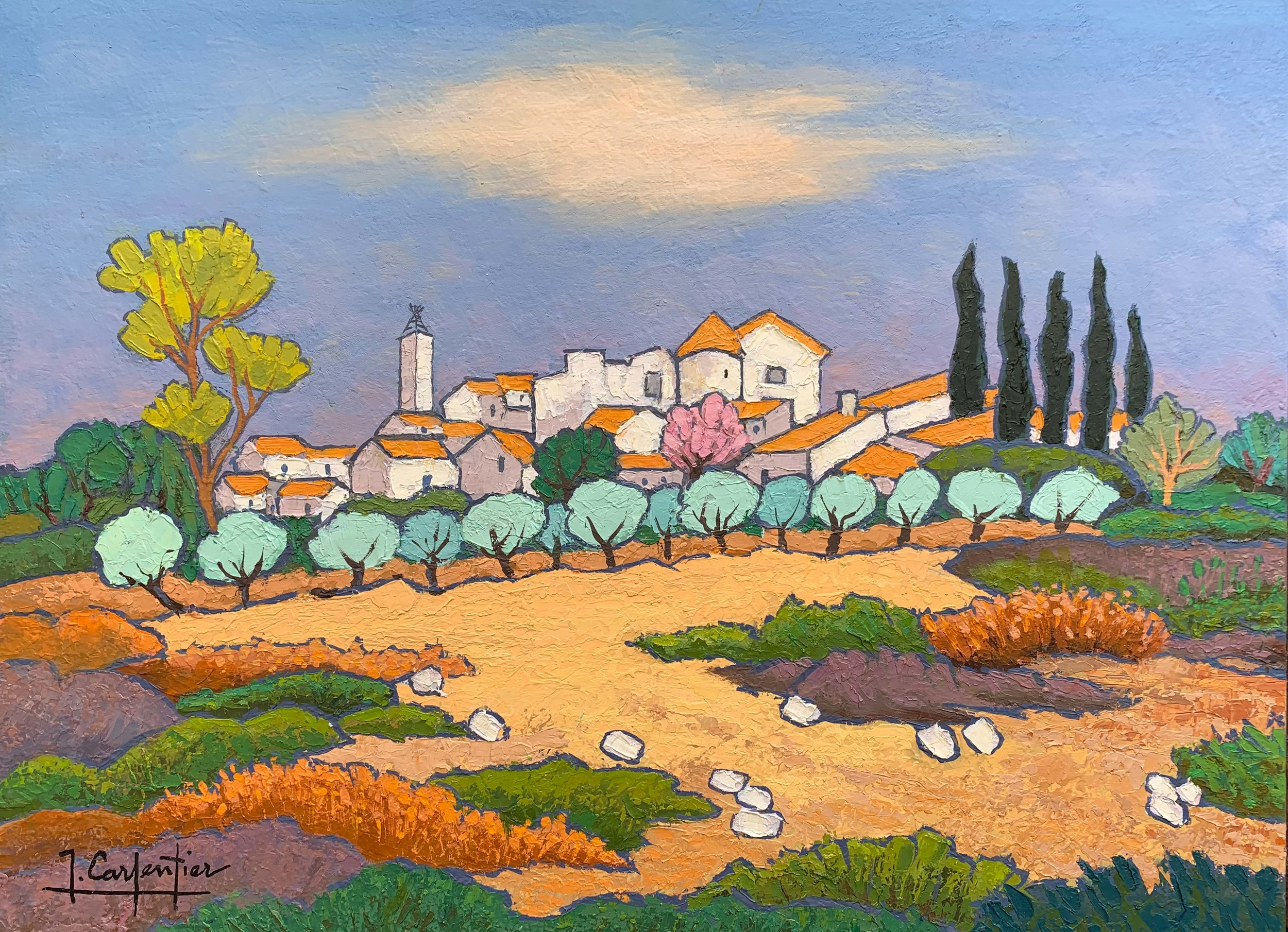 """Faucon Village"" 29 x 21 in."