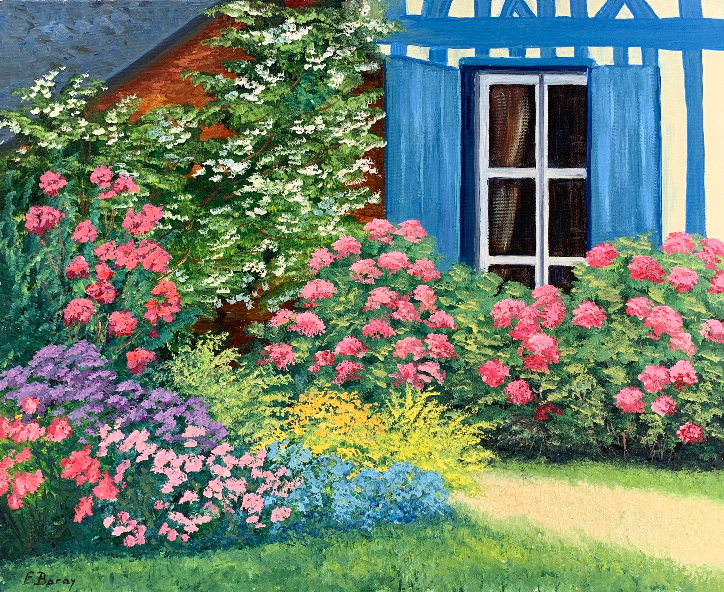 Le Jardin aux Volets Bleus  oil, 22 x 18 in.