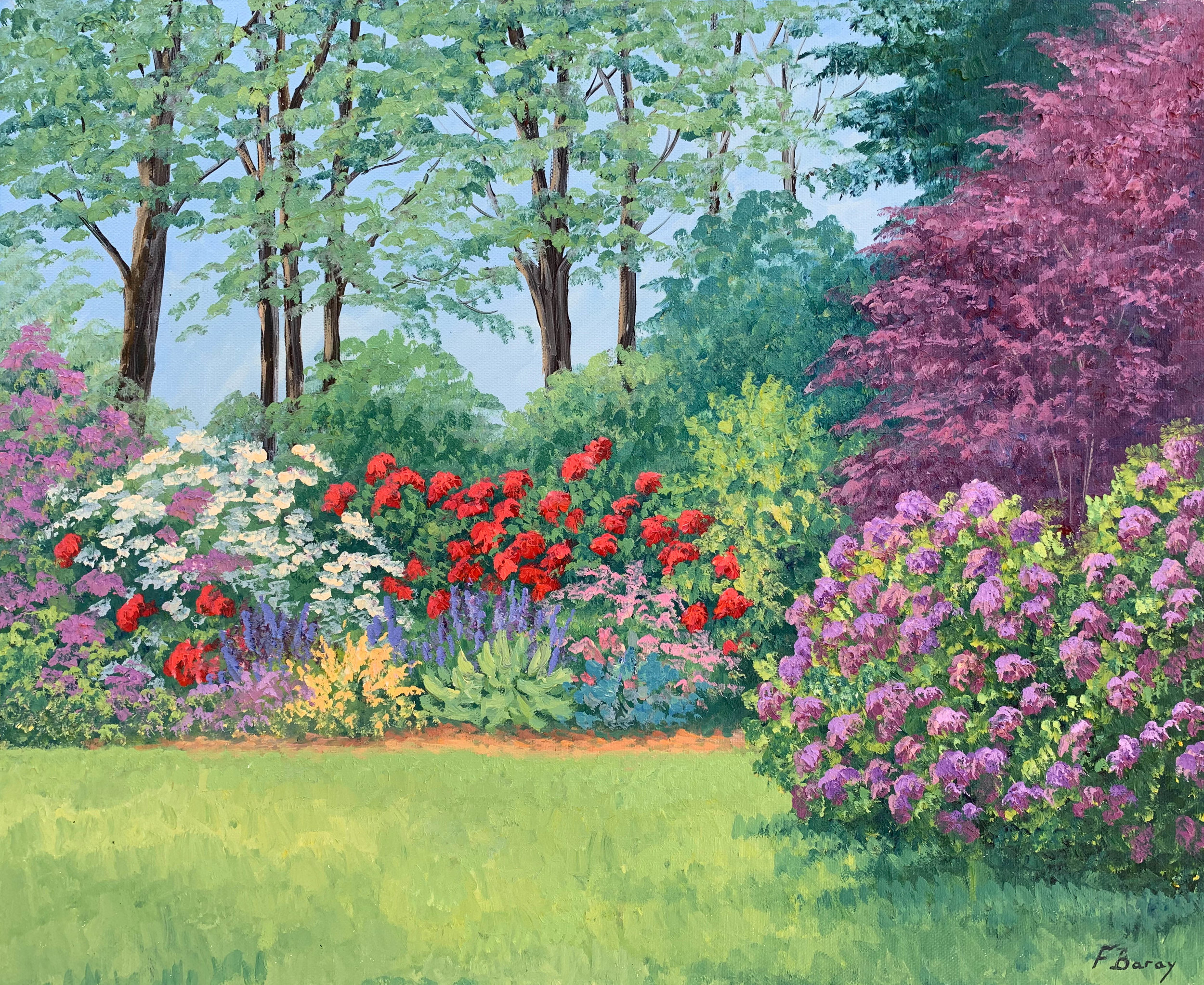 Les Rhododendrons   oil,  22 x 18 in.