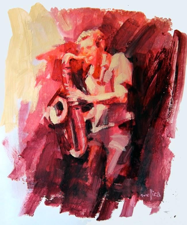 Jazz Musician Painting