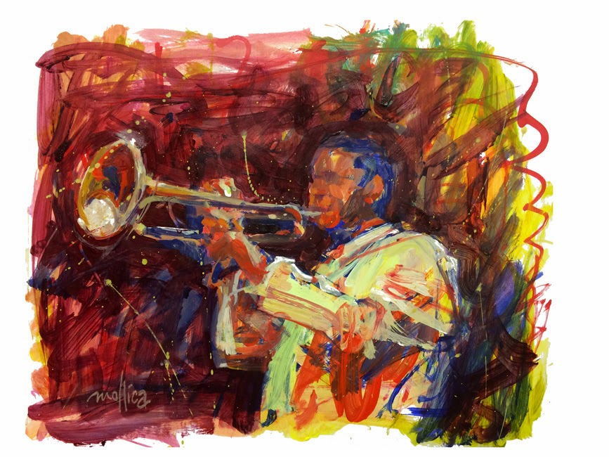 Abstract Representational Jazz Musician
