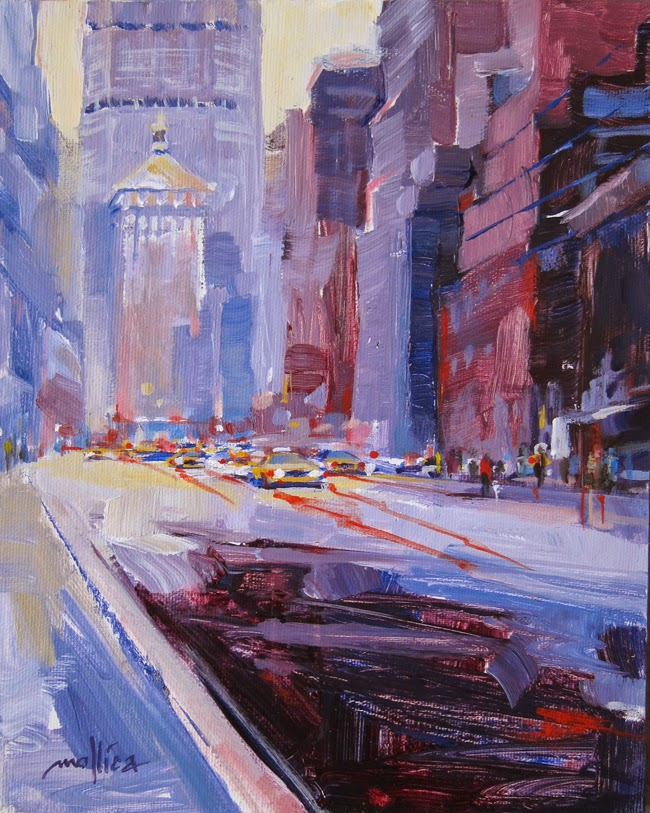 New York Cityscape Painting