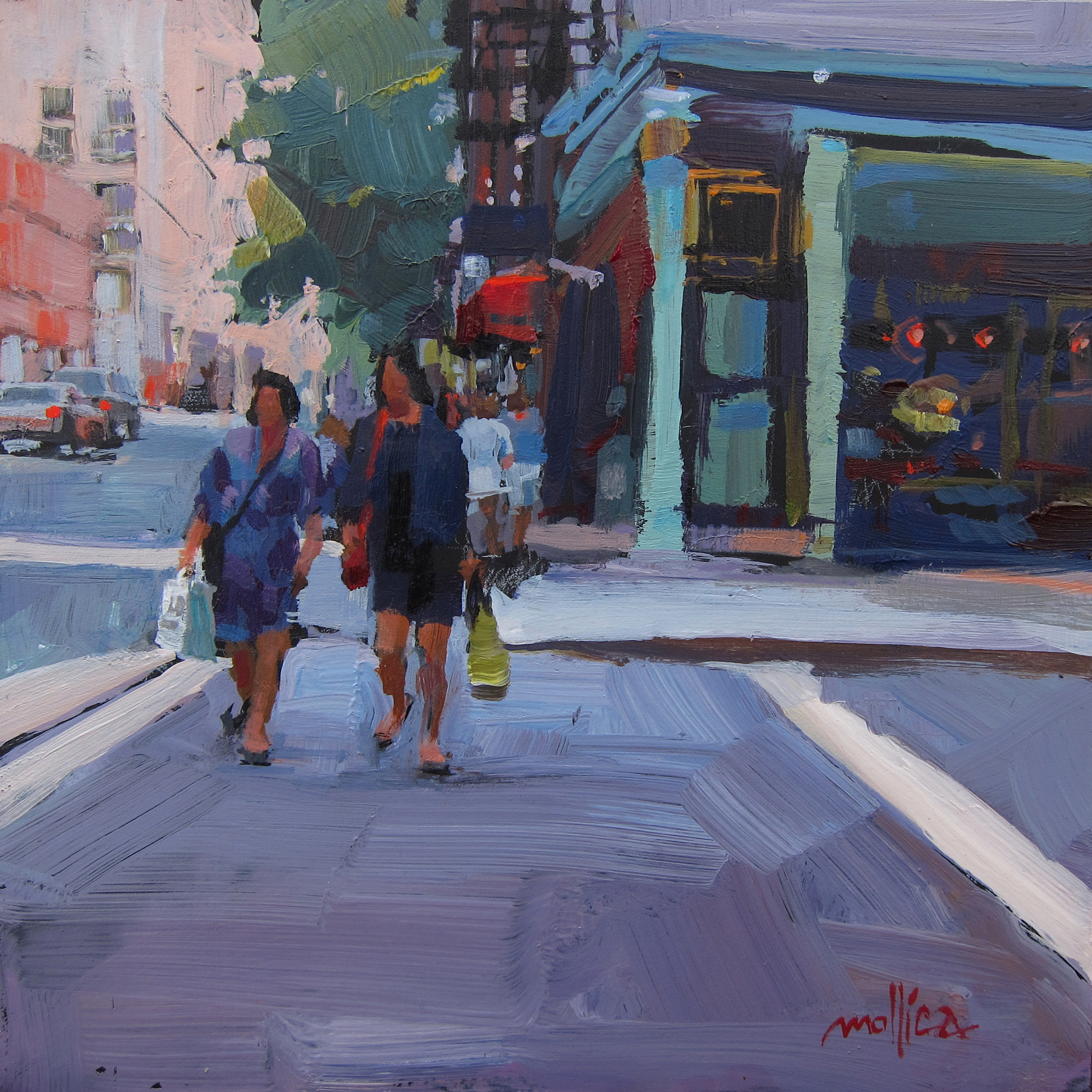 """Shopping Buds 8x8"""" Acrylic SOLD"""