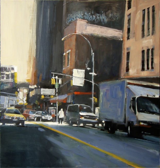 """Gallery District NYC 24x24"""" Oil"""