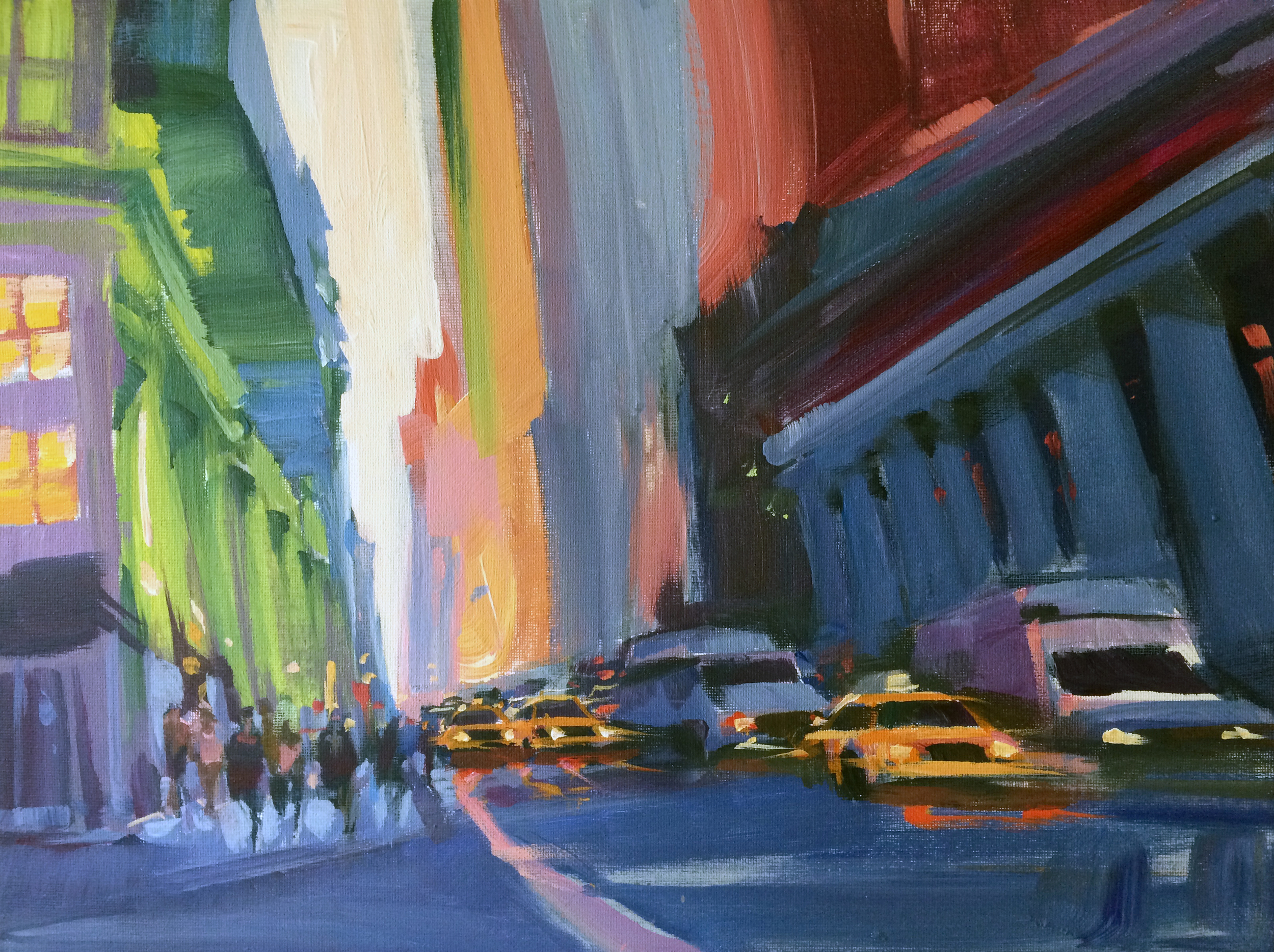 "57th Street NYC 16x20"" Acrylic $375"