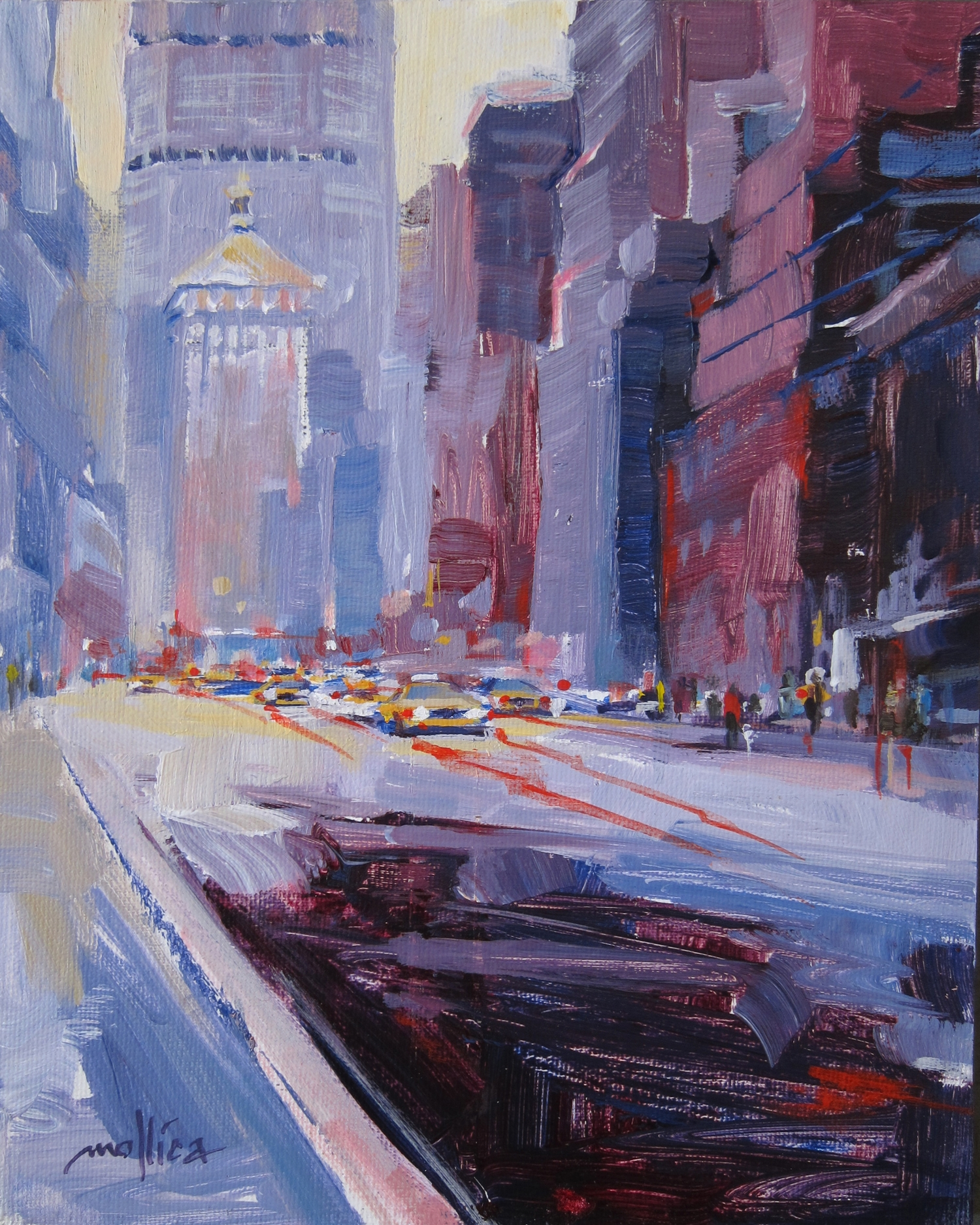 """New York State of Mind 8x10"""" Acrylic $200"""