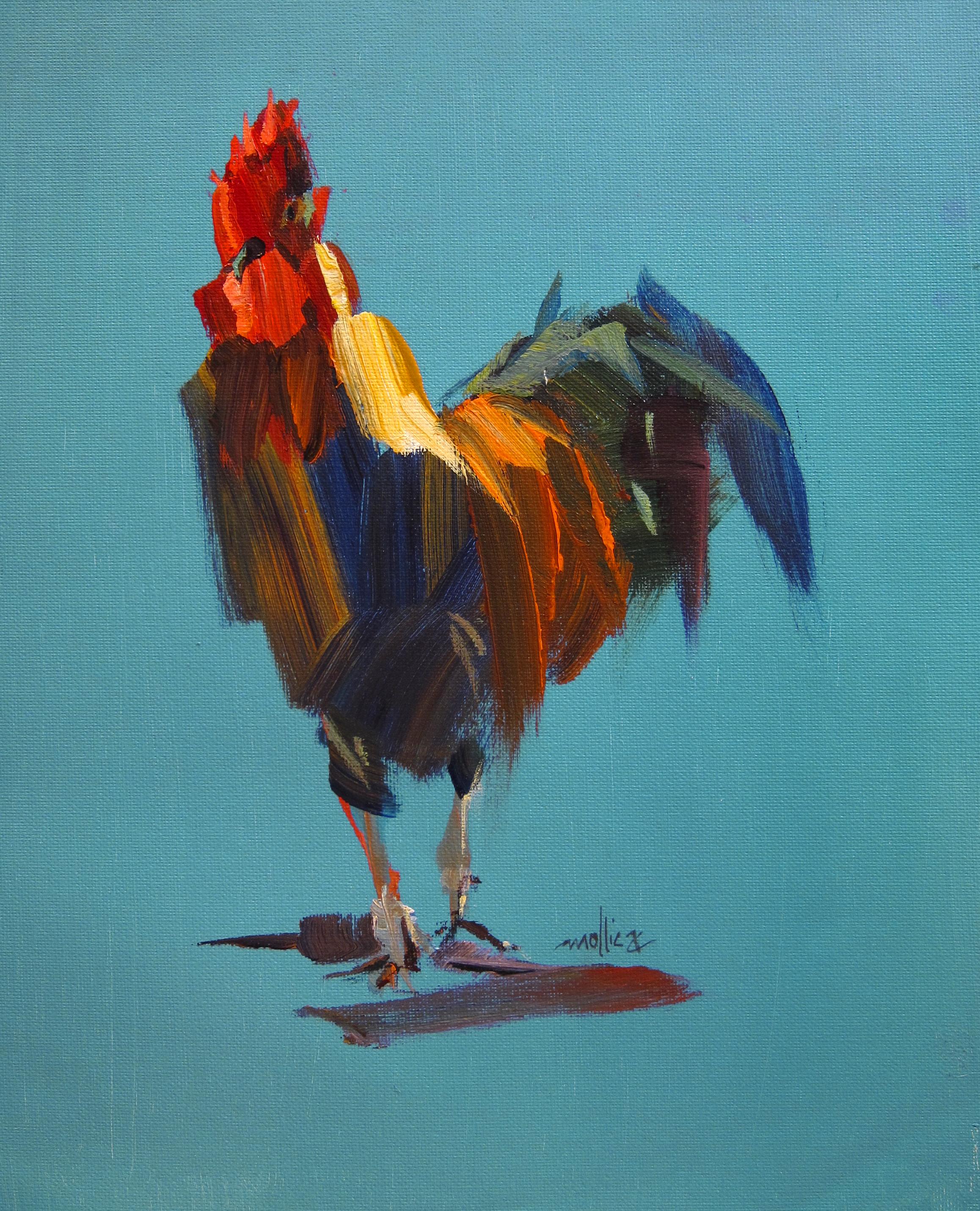 "Truckin' Chicken 12x16"" Acrylic SOLD"