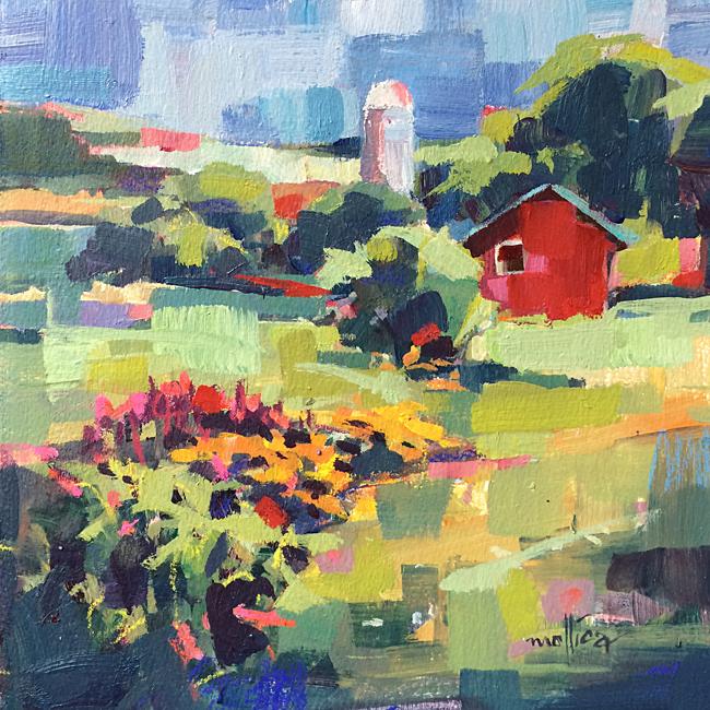 """Amy's Barn 10x10"""" Acrylic"""