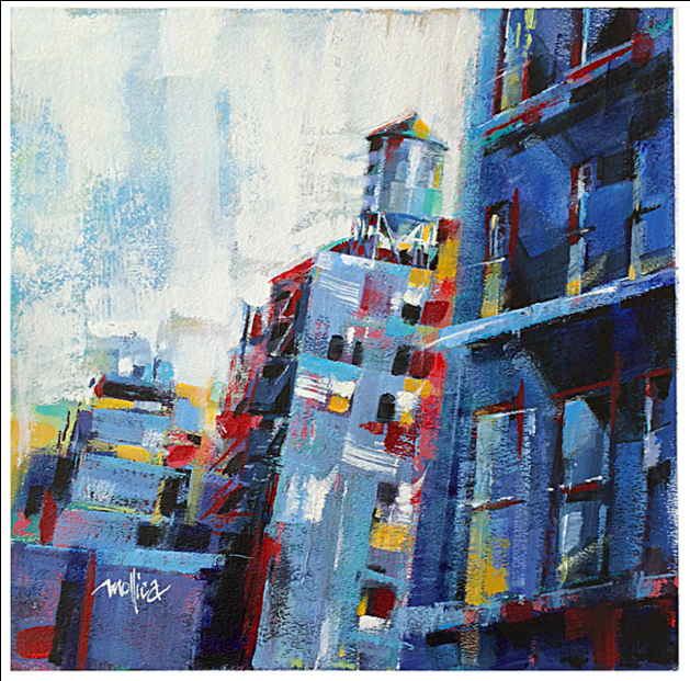 Chelsea Watertower  13.5x13.5  Acrylic    Click for Info