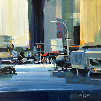 """""""Looking South on Tenth Ave.""""  12x12"""", Acrylic   Click for info"""