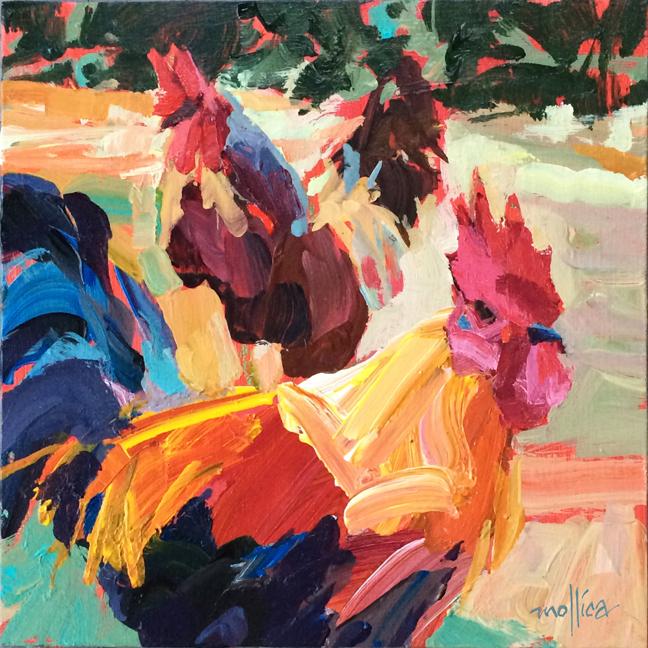 """Chickadeaux 8x8"""" acrylic"""