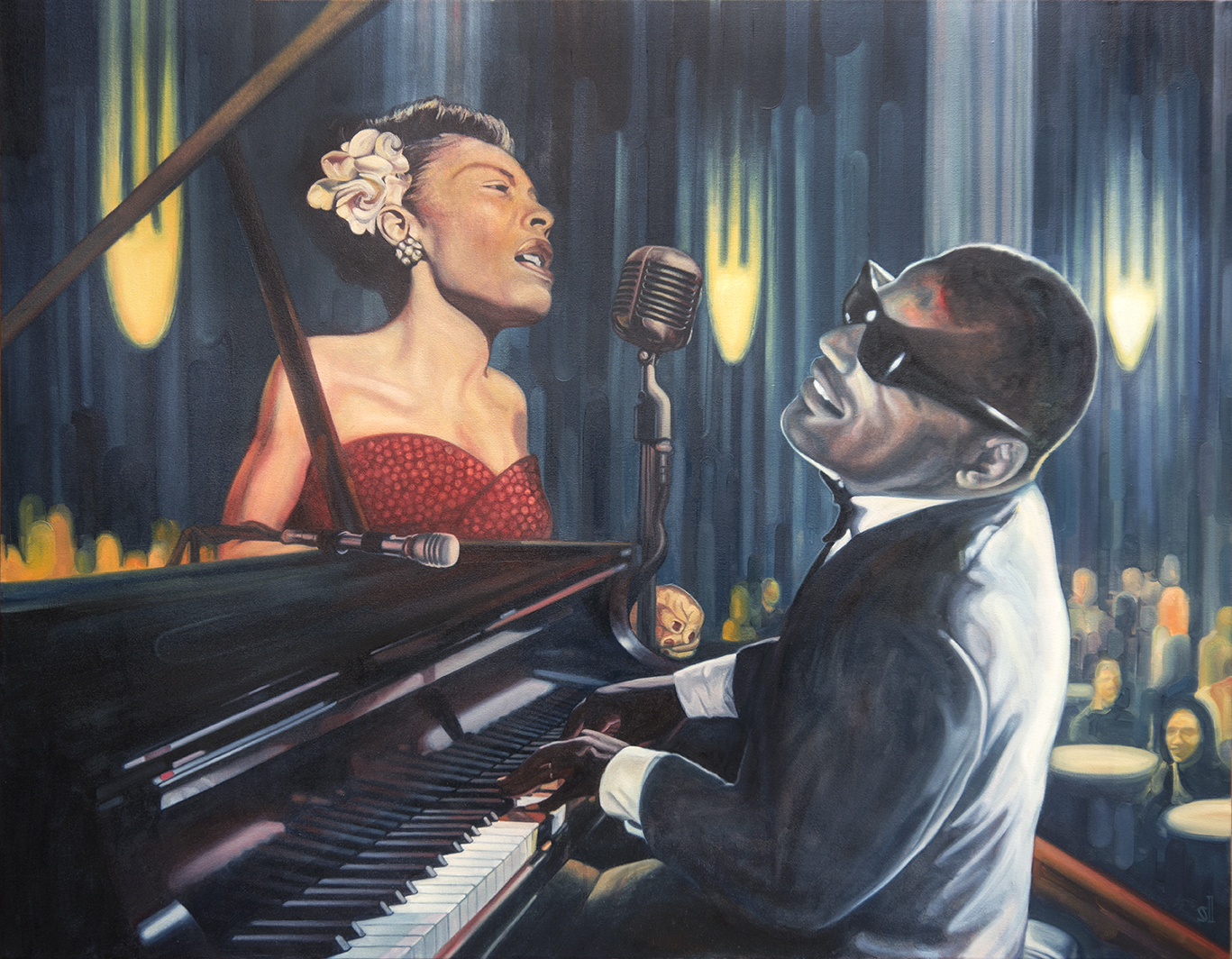 Bille Holiday & Ray Charles / Private commission