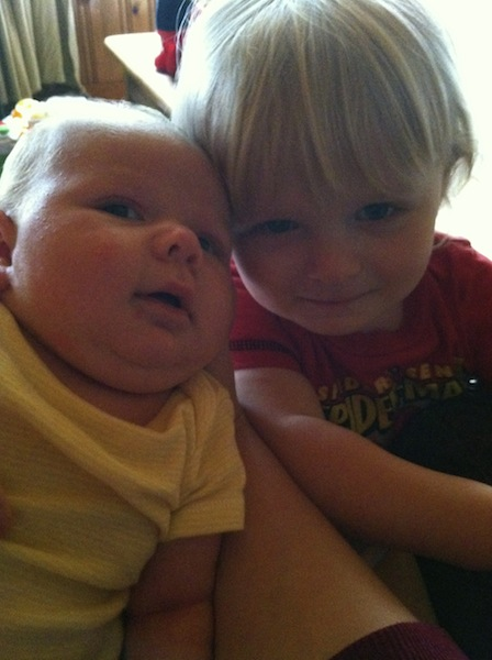 Managin a toddler and new born Issie and Ryals together.jpg