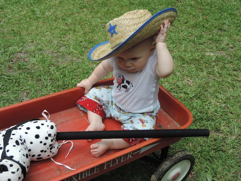 Issie dressed as cowboy on his party day.JPG