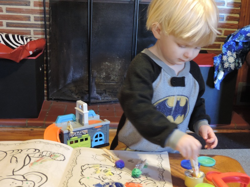 1 painting Indoor Activities to keep a toddler happy and busy.JPG