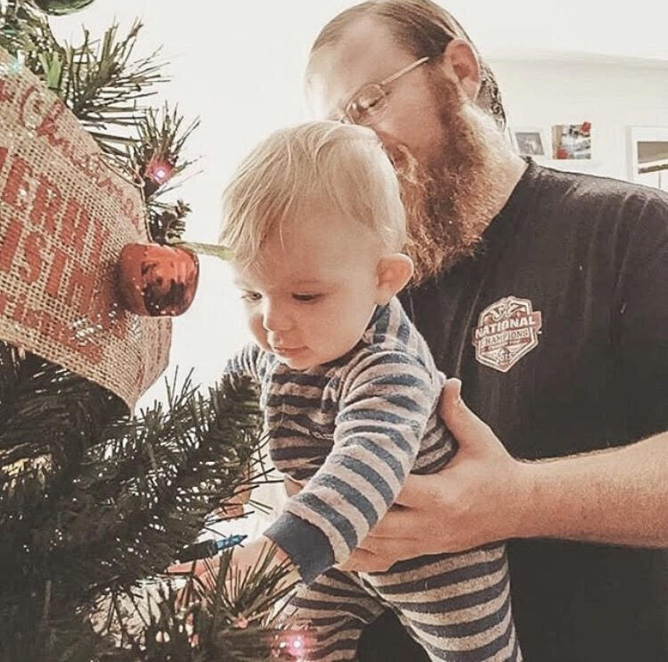 family tradition decorating tree