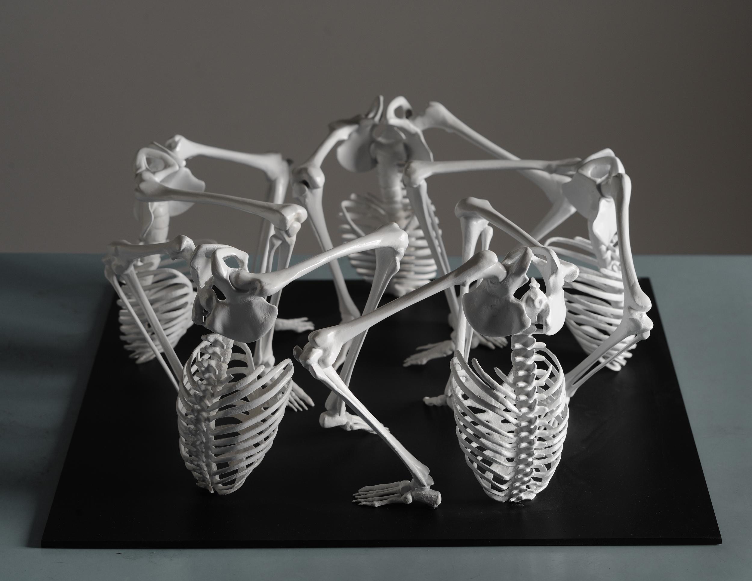K3(Communication Cycle), gypsum composite(3D project Digital Sculptures),2011 @Monika Horčicová/ @Photo Ondřej Polák