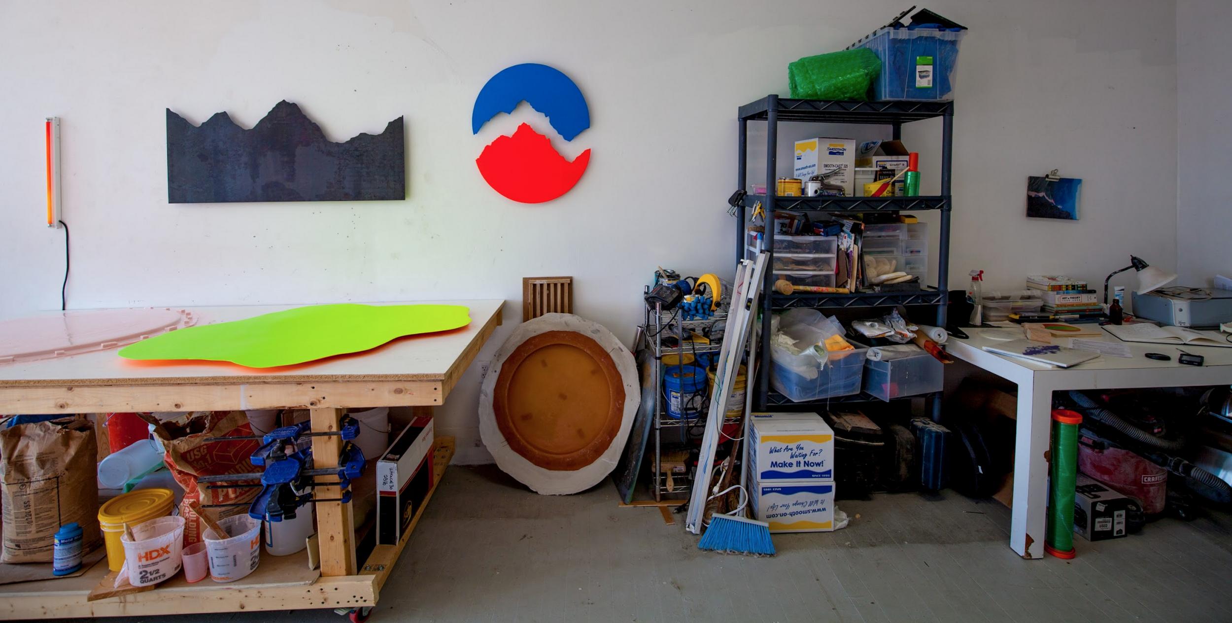 Her studio / Rhode Island, USA