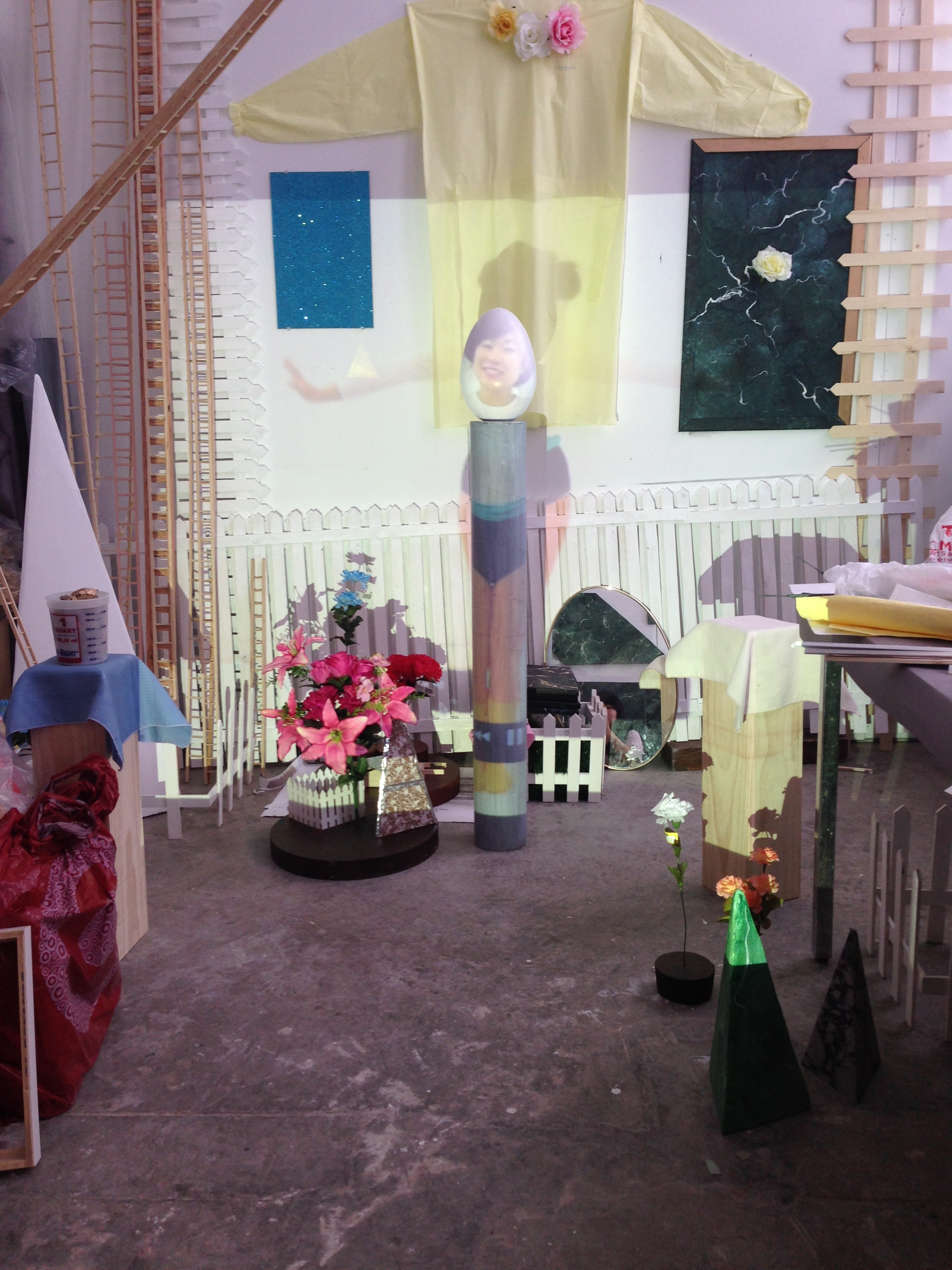 Connie Wong's studio / Ithaca, New York / Full view