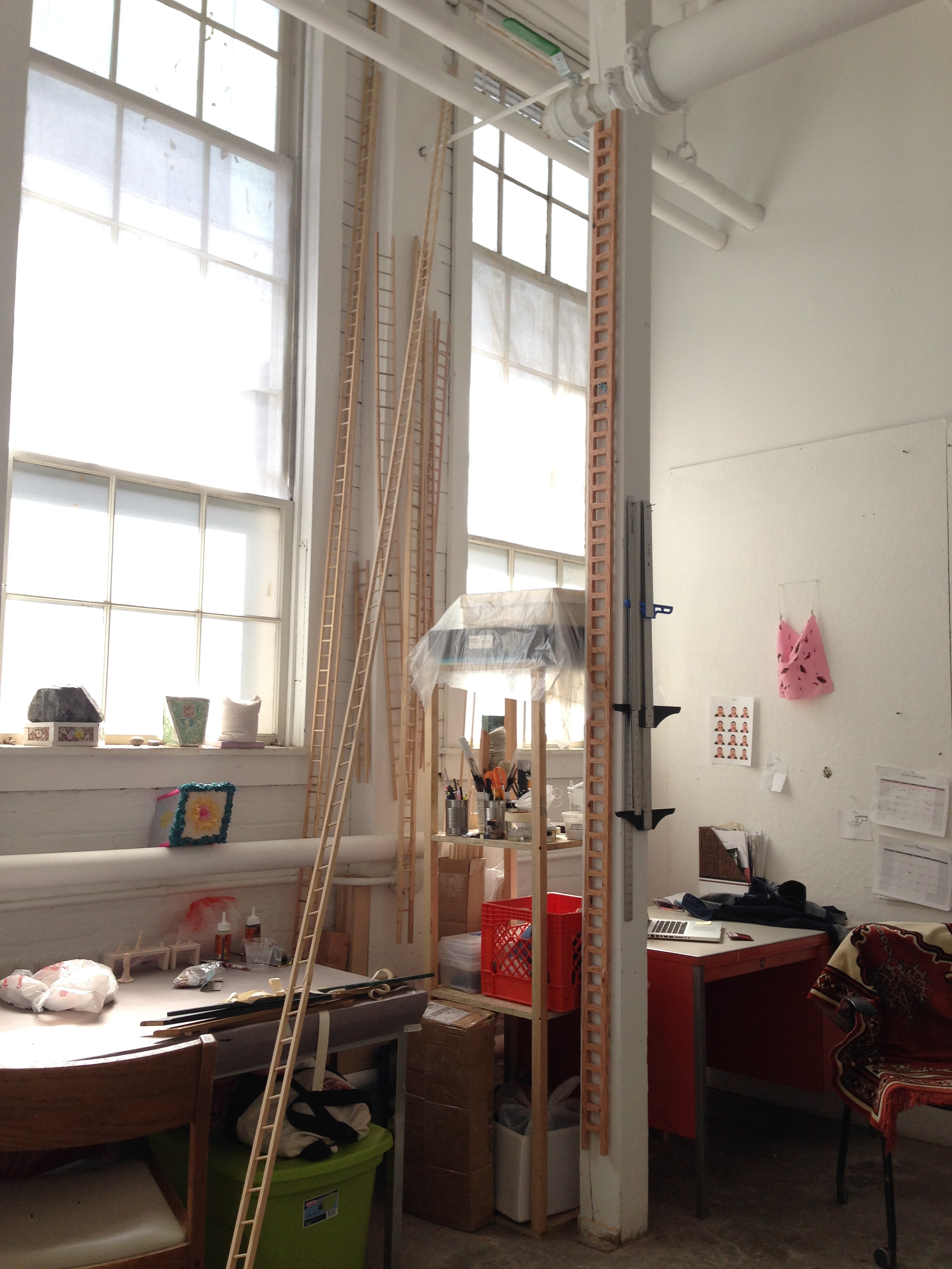 Connie Wong's studio / Ithaca, New York